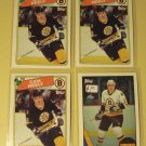 4 Cam Neely Hockey cards, Topps, 1987/88, 1988/89, nm