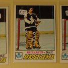Three (3) 1977/78 Topps Mike Palmateer Hockey card #211, RC Rookie, Toronto Maple Leafs