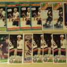 16 Bryan (Brian) Trottier Hockey cards, Topps, various years
