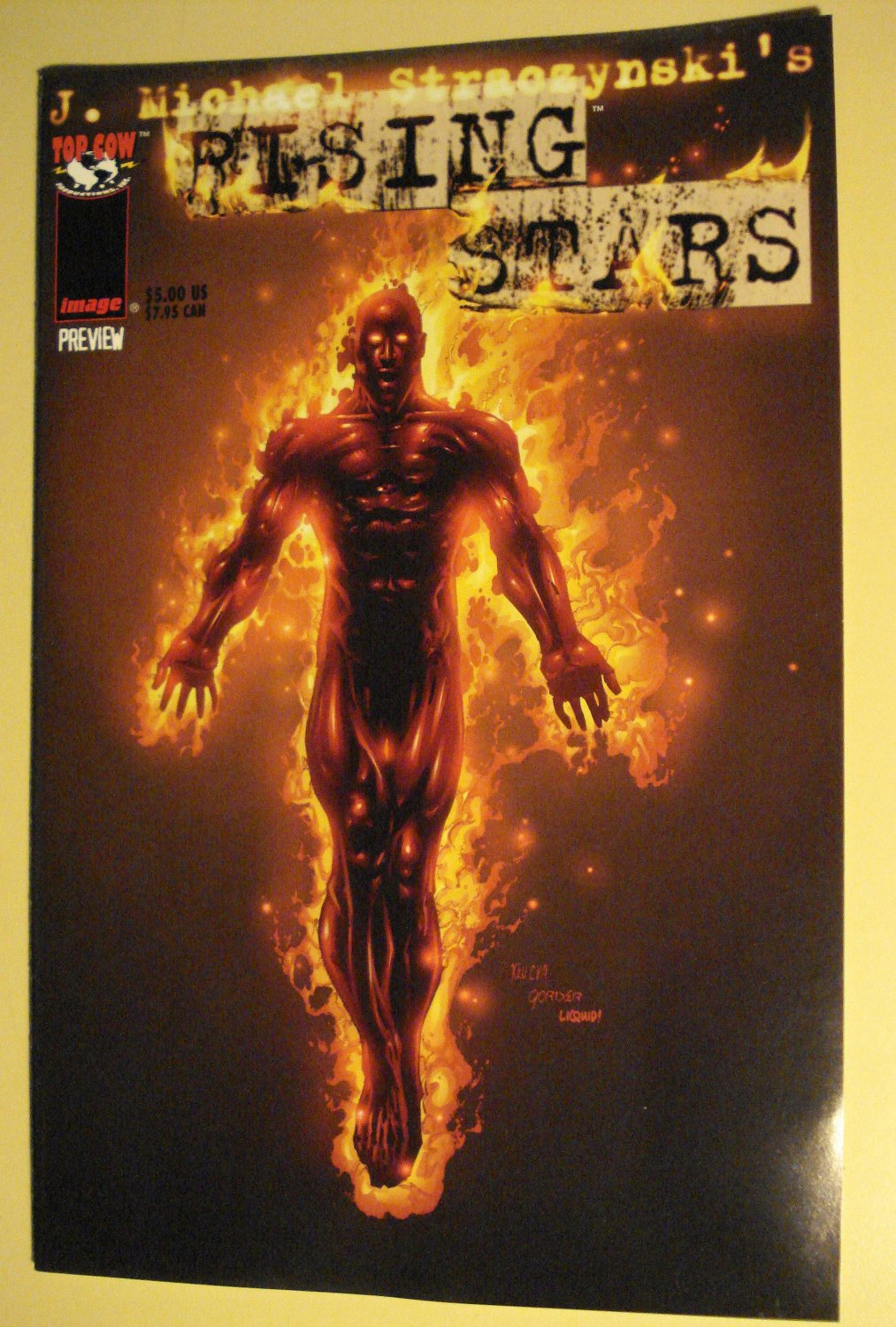 Rising Stars Preview Promo Promotional Ashcan Comic Book