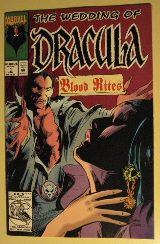 Marvel Comics The Wedding of Dracula #1 comic book , vampires