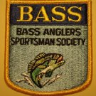 Bass Anglers Sportsman Society cloth sew-on patch, never used, perfect! Fishing fisherman
