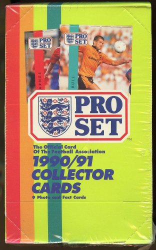 1990 / 1991 Pro Set Soccer (football) cards,  never opened, MINT, 48 packs factory sealed 90/91