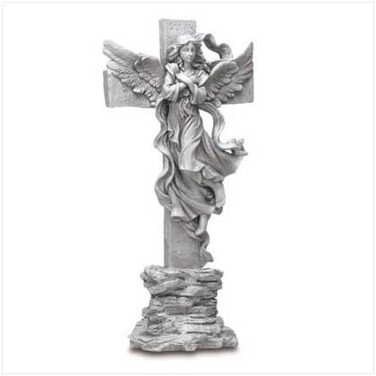 ANGELIC CROSS STATUE