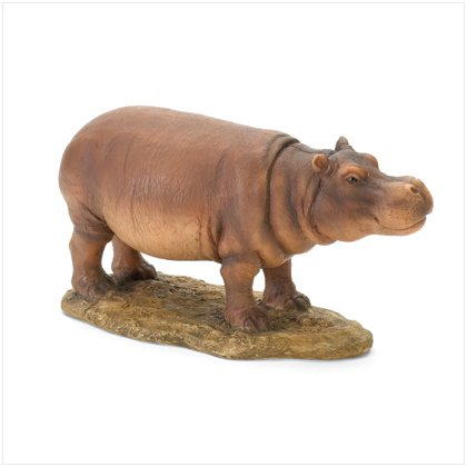 POLYRESIN HIPPO FIGURINE-BIG