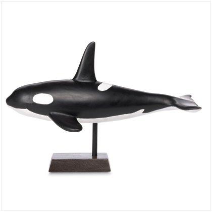 CERAMIC ORCA WHALE FIGURINE