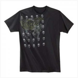 WINGED SKULL T-SHIRT - Large