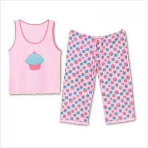 CUPCAKE PAJAMA SET - LARGE