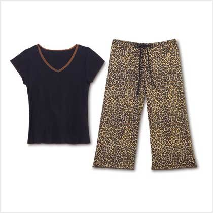 LEOPARD PRINT PJ SET - LARGE