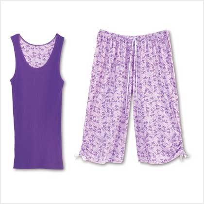 LAVENDER LEAVES PJ SET -XLARGE