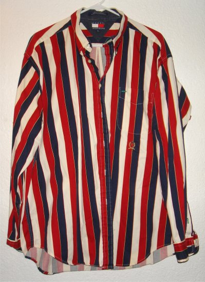 Tommy Hilfiger button front shirt sz XL 00043