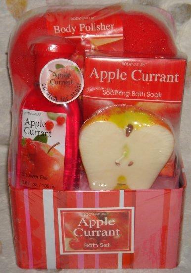 NEW * Body Naturals Apple Currant Bath Set 00125