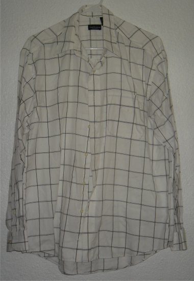 VanHeusen button front shirt sz Large 16 16-1/2 00220