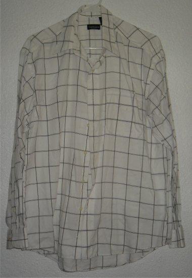 VanHeusen button front shirt sz Large 16 16-1/2 00220