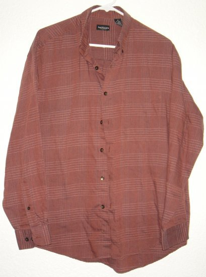 VanHeusen button front shirt sz Medium 15 15-1/2 00227