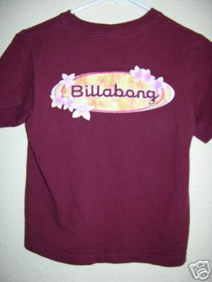 Billabong tee shirt jr girls Small 00344