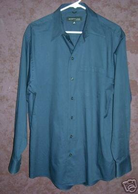 Kenneth Cole button front dress shirt sz 16 34-35 00418