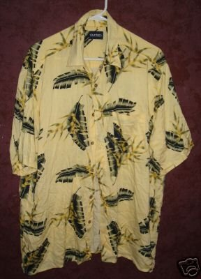 Puritan button front shirt mens sz Large 00436