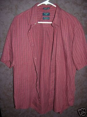 DOCKERS button front shirt sz Large 00480