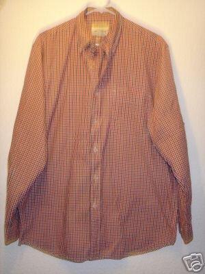 Eddie Bauer button front shirt sz Medium 00576