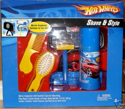 Hot Wheels Shave & Style kit bath time mirror comb NEW 001011