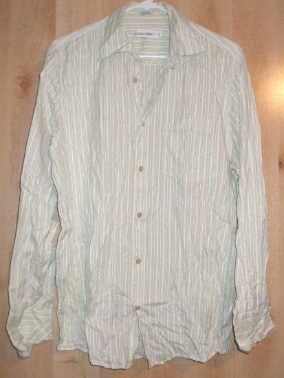 Calvin Klein button front shirt sz Medium mens   001231