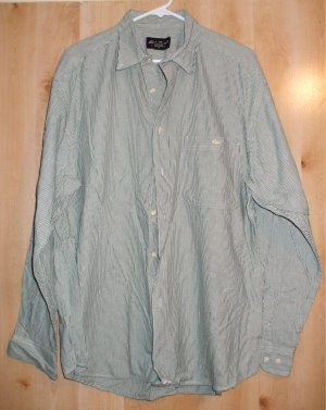 Eddie Bauer button front shirt sz Large mens EB  001259