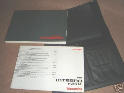 FACTORY OEM 1994 ACURA INTEGRA Owners Manual + MORE