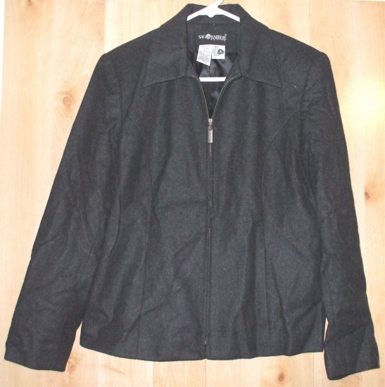 Sag Harbor blazer shirt jacket sz 10 womens Petite   001315