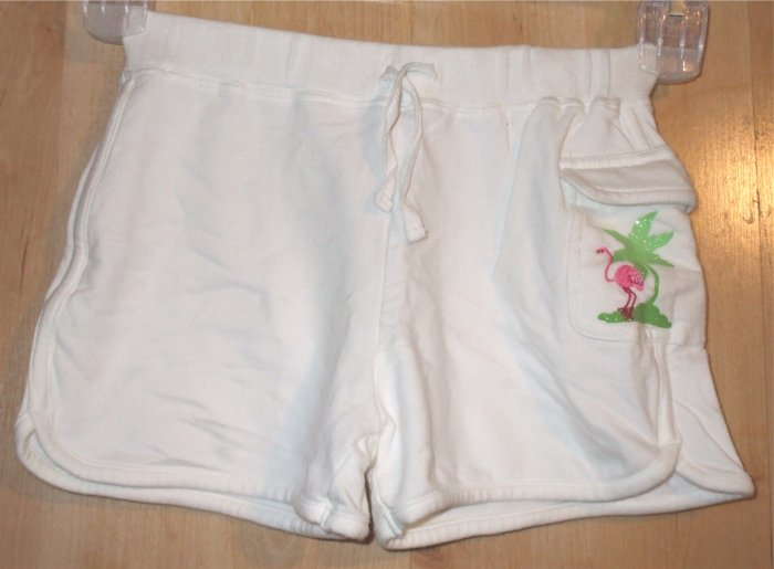 Greendog shorts sz Small flamingo green dog cute  001336