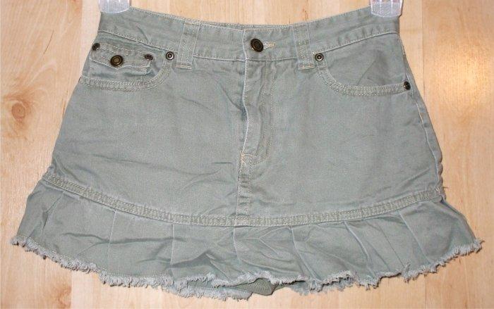 Greendog skirt sz 12 girls shorts cute green  001342