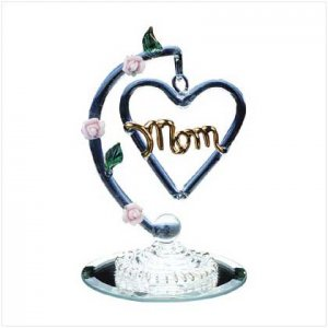 Glass Heart-Shaped Mom (mothers day)