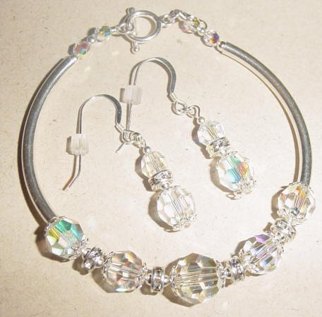 Belle of the Ball/Swarovski and Sterling Silver - Free Shipping