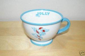 Starbucks JOLLY Holiday 2007  Coffee Mug 10oz NWOT