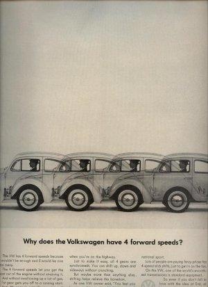 Vintage 1963 Volkswagen Y 4 forward speeds Doodle Bug VW Car AD