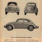 Vintage 1960 Volkswagen VW Homely Car Ad