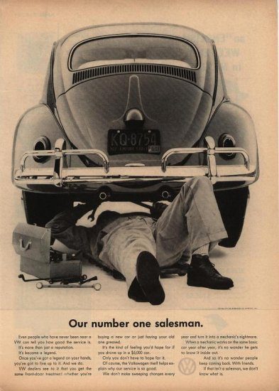 Vintage 1961 Our Number One Salesman Volkswagen AD