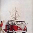 Vintage 1961 Volkswagen VW Beetle Bug Red Bus AD