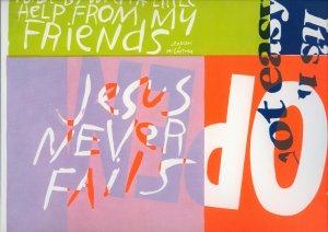 1968 Sister Mary Corita Jesus Never Fails ART PRINT
