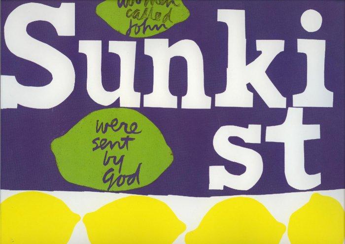 Vintage 1968 Sister Mary Corita Kent Sunkist ART PRINT