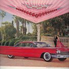 Vintage 1960 Red Cadillac Harry Winston Jewels Crest AD
