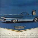 1958 Vintage Blue Cadillac Car Print AD Vintage Advertising