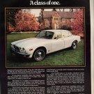 Vintage 1975 White XJ12 Jaguar Car Automobile Print AD