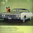 Vintage 1967 Oldsmobile Ninety Eight Super Rocket V8 Engine AD