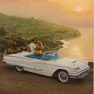 Vintage 1959 Ford White Thunderbird Convertible AD