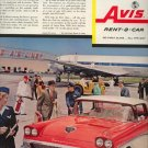 Vintage 1957 New Fords Fairlane AVIS Rent a Car AD