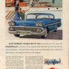 Vintage 1958 Chevrolet Impala Sport Coupe Turbo Thrust V8 AD