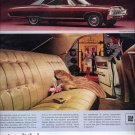 Vintage 1967 RED Chevrolet Chevy Caprice Custom Sedan Car AD