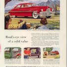 Vintage 1949 Golden Packard Super Deluxe Sedan Red Car AD