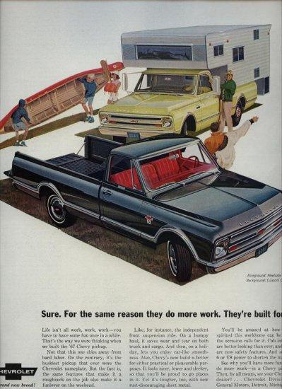 Vintage 1967 Chevrolet Fleetside Truck AD